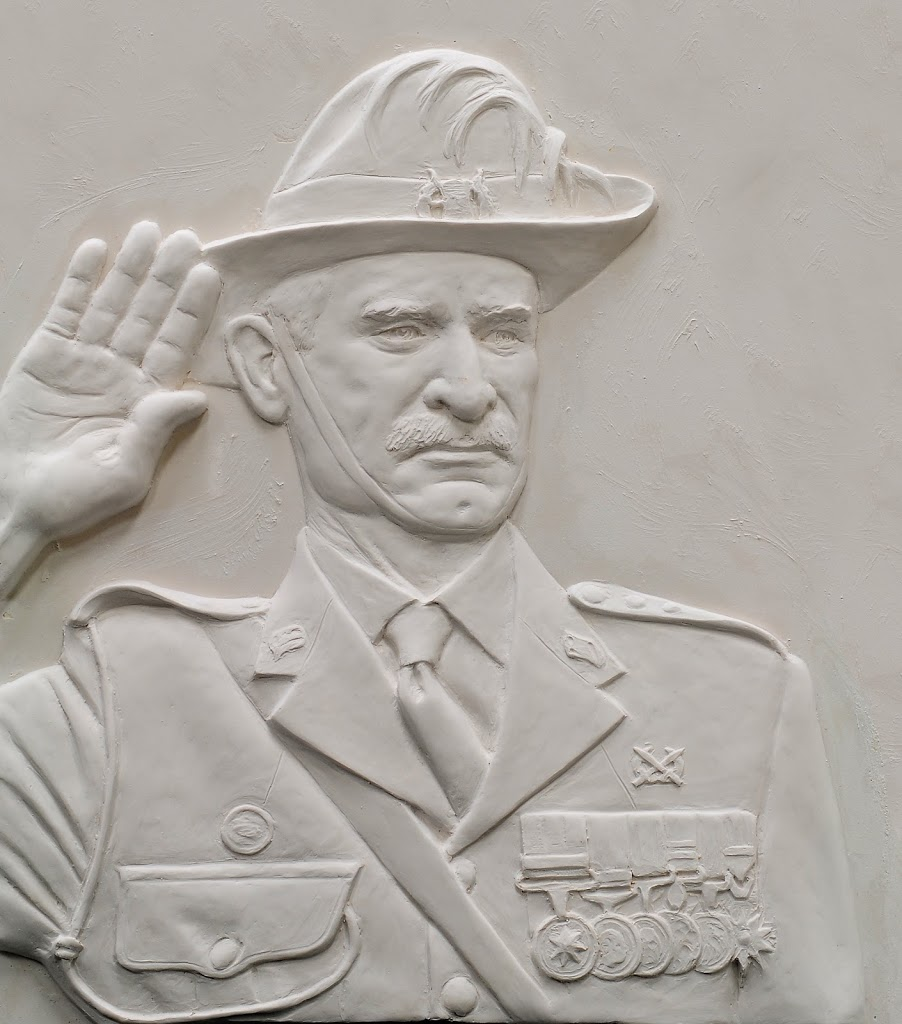 military bas relief