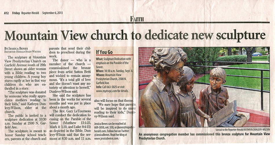 Mountain View church to dedicate new sculpture
