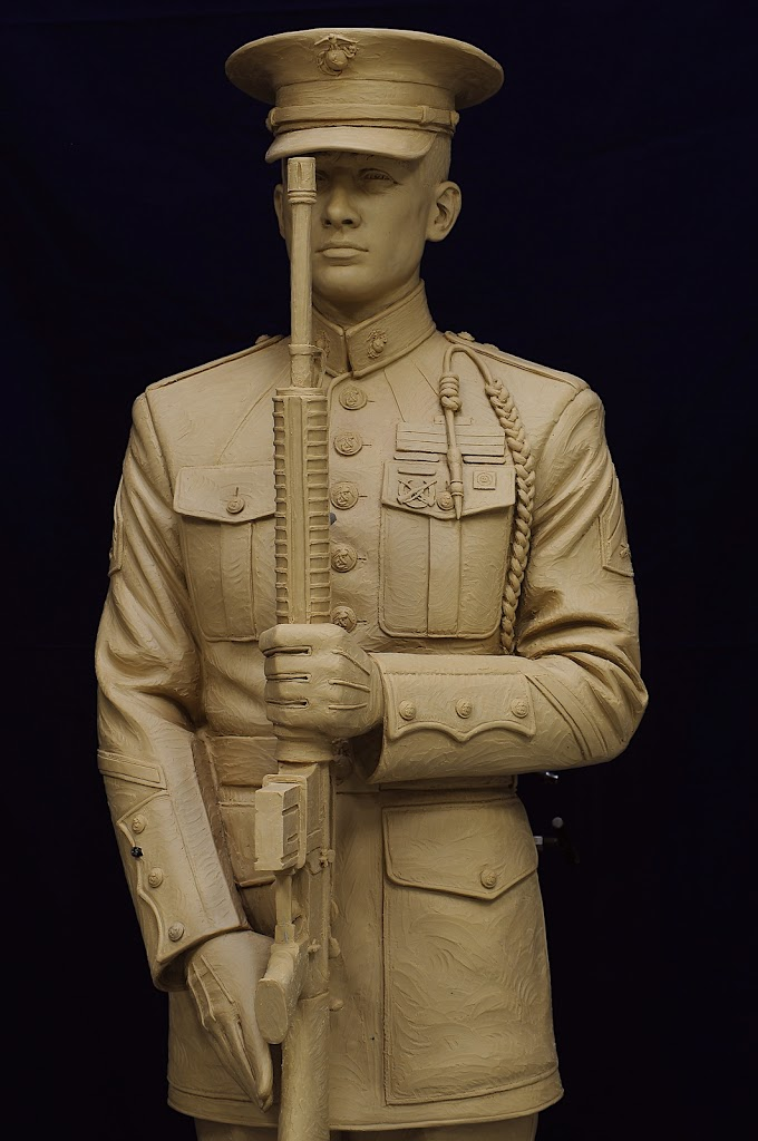 Present Arms Honor Guard (US Marine) clay sculpture