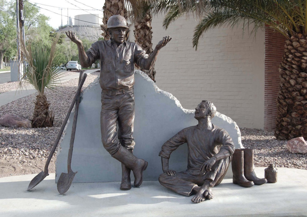 Hoover dam workers by Sutton Betti, hoover dam bronze sculpture