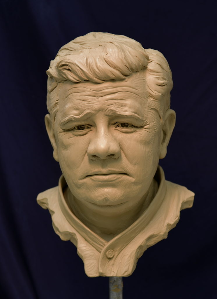 Babe Ruth bust, Sultan of Swat, The Great Bambino, Sutton Betti sculptures, Loveland Colorado sculptor, portrait bust, baseball statue