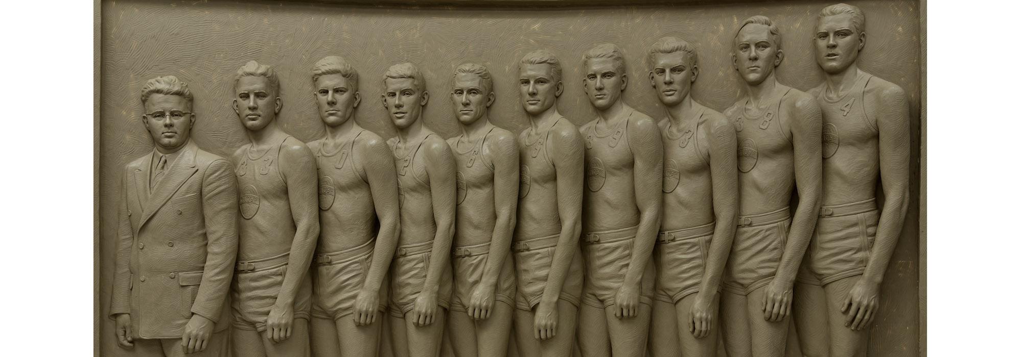 Sutton Betti, Globe Refiners, McPherson, Kansas, basketball monument