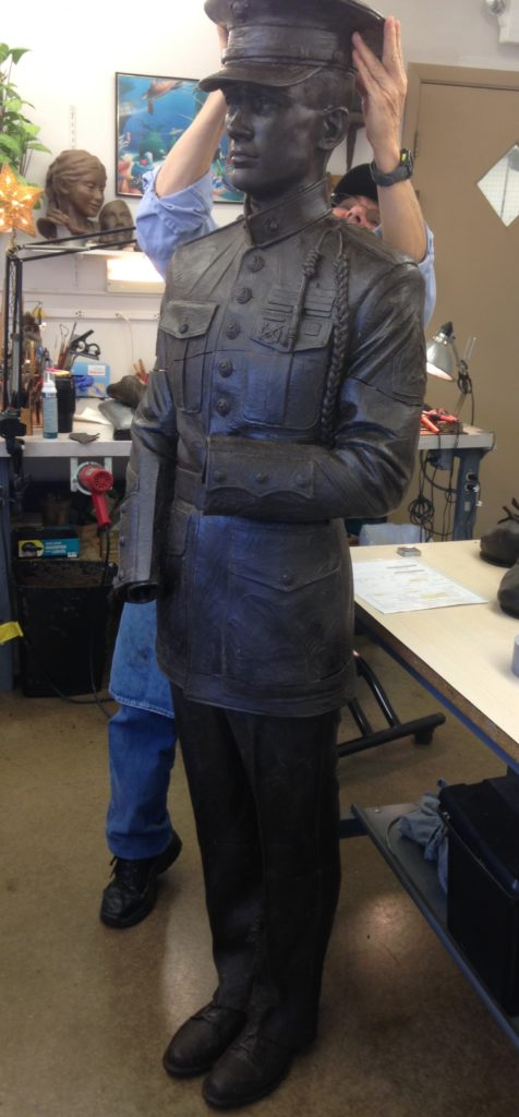 wax sculpture, life size monument, Sutton Betti, Art Castings of Colorado