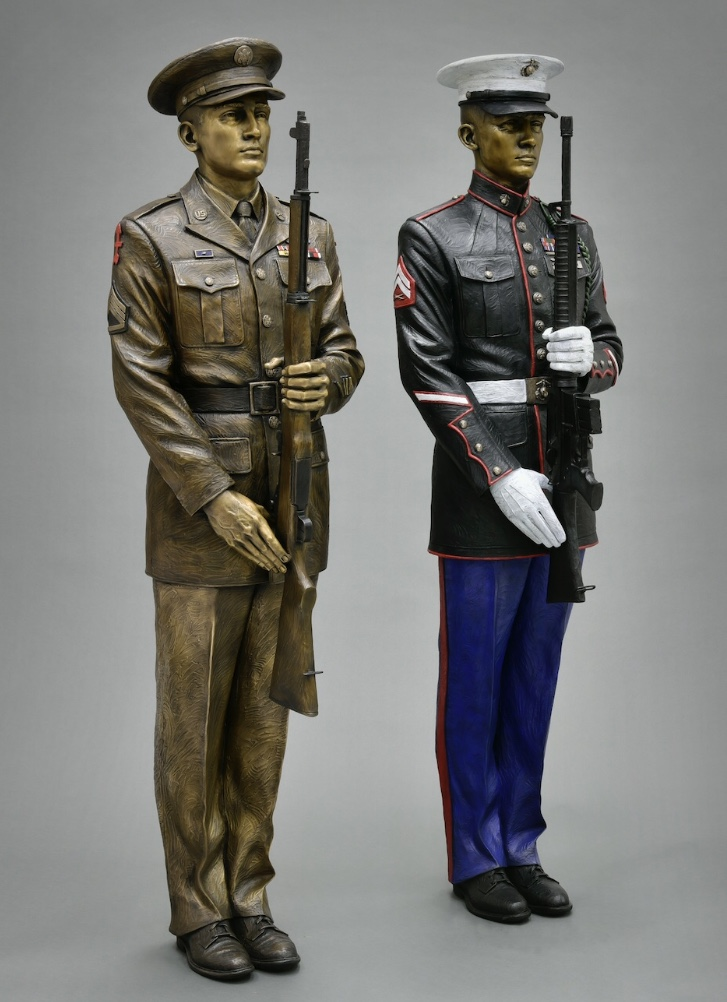 bronze military sculpture, commission a sculpture, bronze military art, military statue, honor guard sculpture, Army sculpture, Marine sculpture, present arms honor guards, Wisconsin sculpture, Colorado sculpture, sculptors in the USA, bronze artists