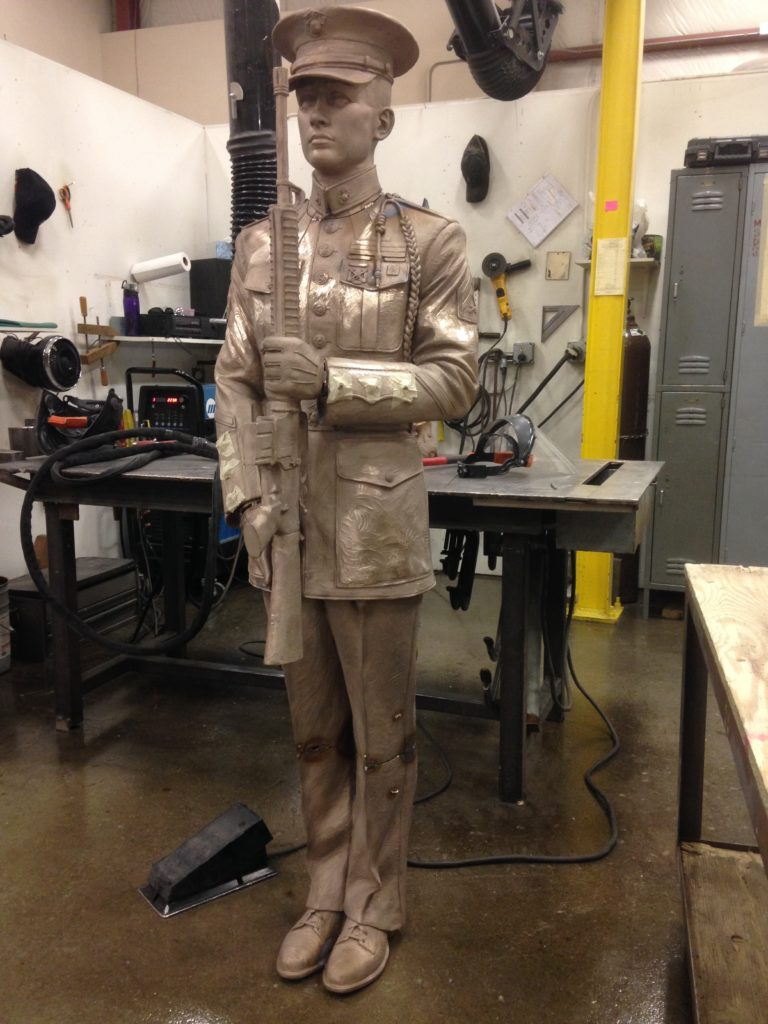 Honor Guard sculpture, bronze statue