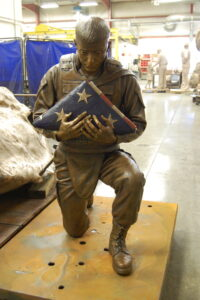 bronze foundry, sculpture foundry, military sculpture, military statue, Colorado foundry
