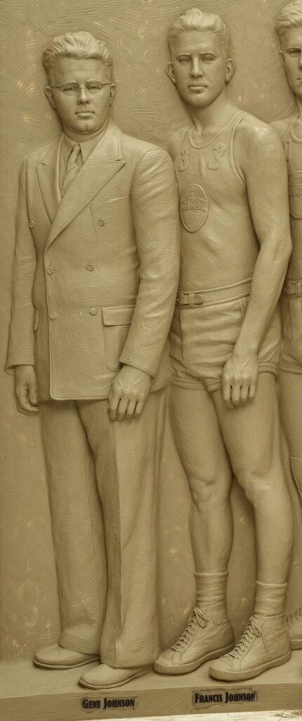 Globe Refiners monument, Coach Gene Johnson, Francis Johnson, Sutton Betti