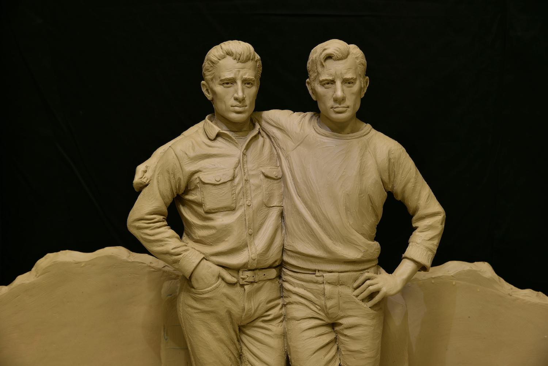 Beat sculpture, Monument to Jack Kerouac, Monument to Neal Cassady, Sutton Betti, Colorado statues, Loveland artist, Northern Colorado bronze sculpture, maquette