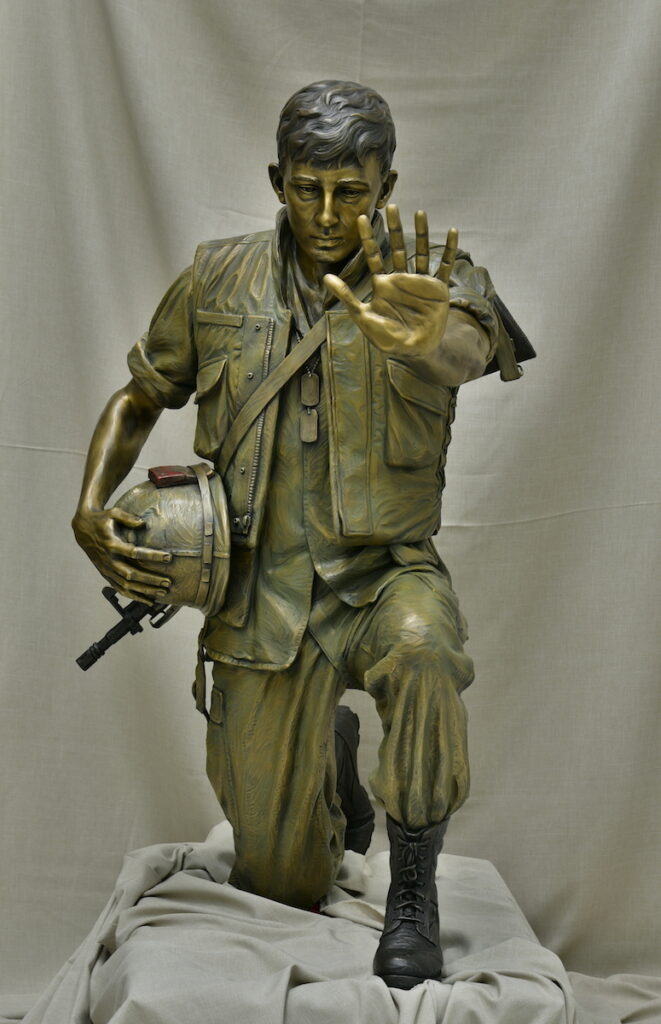 Vietnam sculpture, bronze military statue, Remembering Heroes