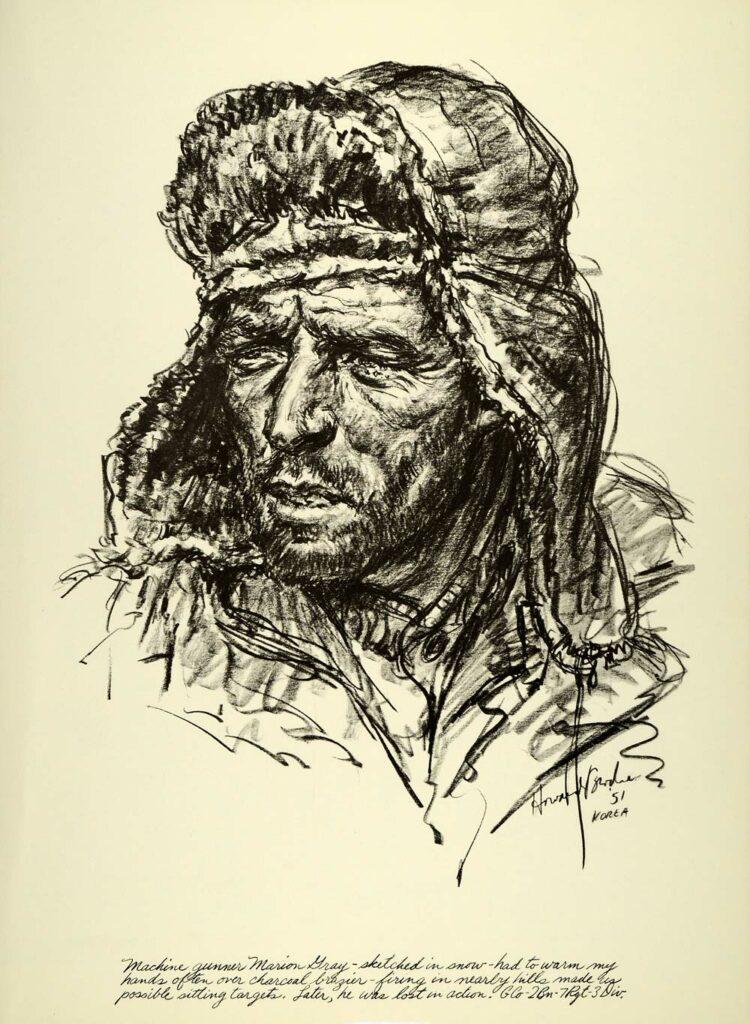 Howard Brodie illustrator, combat artist