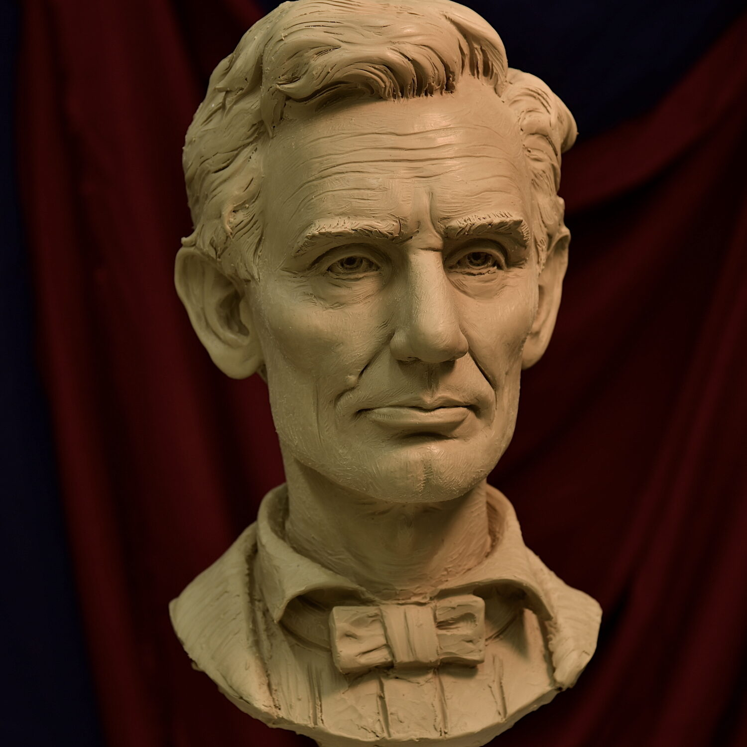 Sutton Betti, Abraham Lincoln sculpture bust, bust, portrait bust, clay sculpture